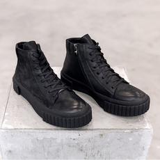马丁靴子潮流短靴英伦皮靴高帮英伦冬季军靴复古  DJ132