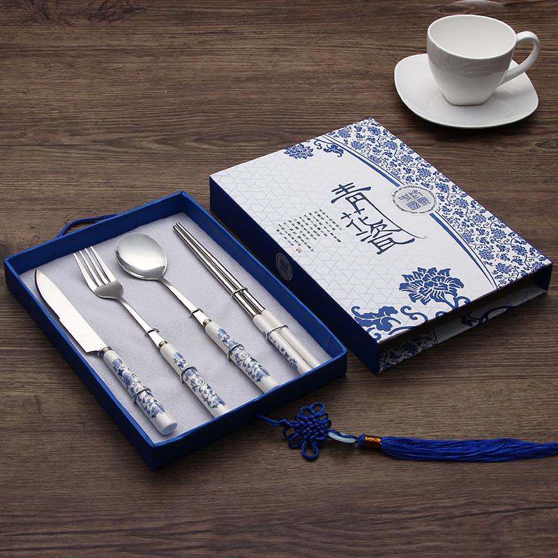 青花瓷餐具 民间手工艺品 中国风 特色出国会议礼品小礼物送老外
