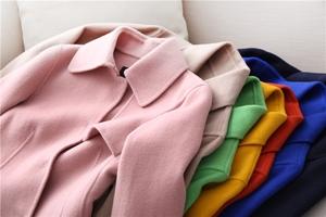 Chuẩn bị sẵn sàng! 100% Yang Mao ~ làm bằng tay hai mặt ~ đi lại tính khí áo len ~ bảy màu sắc ~ BG1114