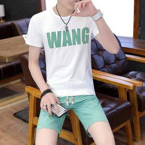 2018夏季新款短裤短袖套装男五分裤青少年学生短袖T恤套 T15 P30