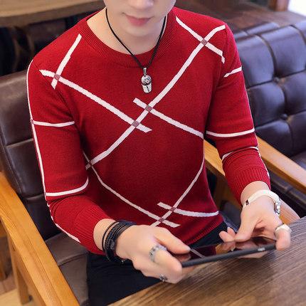 新款男装青年时尚毛衣潮流韩版商务休闲套头毛线衫纯棉免烫体恤4