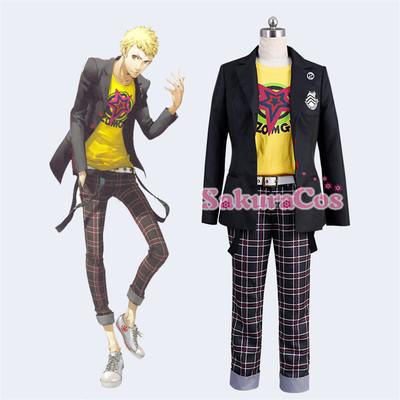 taobao agent Persona P5 Ryuji Sakamoto Hideki Gakuen Uniform Cosplay Costume
