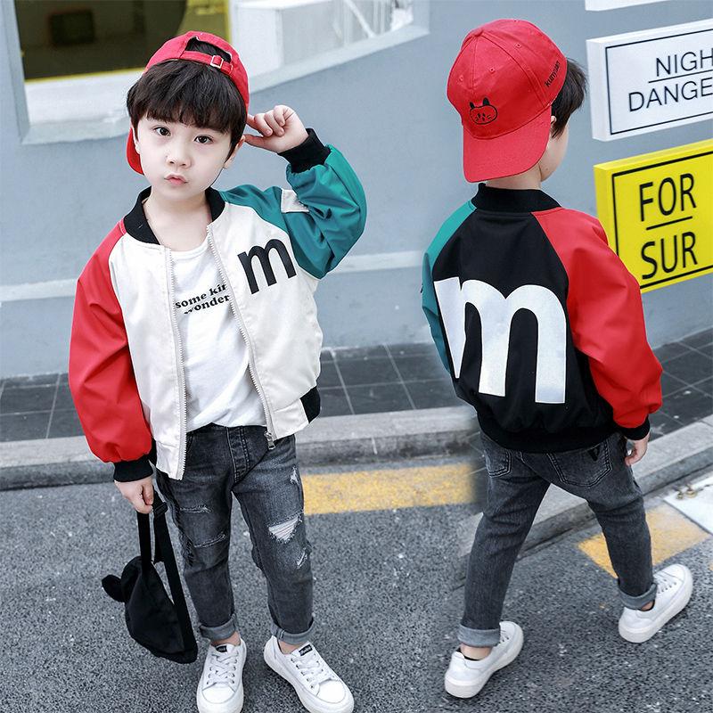 Áo khoác mùa xuân cho bé trai 2019 Áo khoác bé trai mới cho bé gái Áo khoác trẻ em nhỏ thời trang mùa xuân hàng đầu Hàn Quốc - Áo khoác