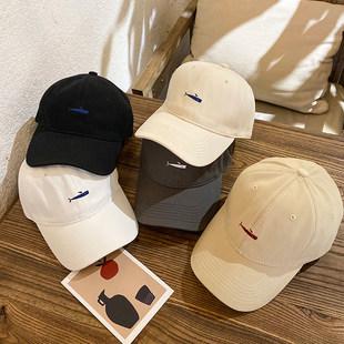 Шляпа черный вышивка фуражка ins небольшой Толпа людей прилив бренд женщина корейский тонкий летний воздухопроницаемый мягкий топ бейсболка мужчина