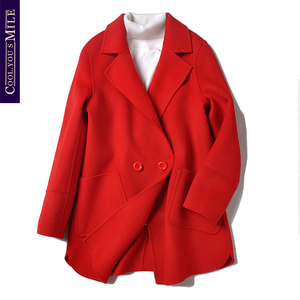 Chống mùa giải phóng mặt bằng hai mặt áo len ngắn cổ áo phù hợp với