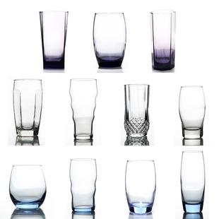 家用果汁玻璃杯透明啤酒杯子