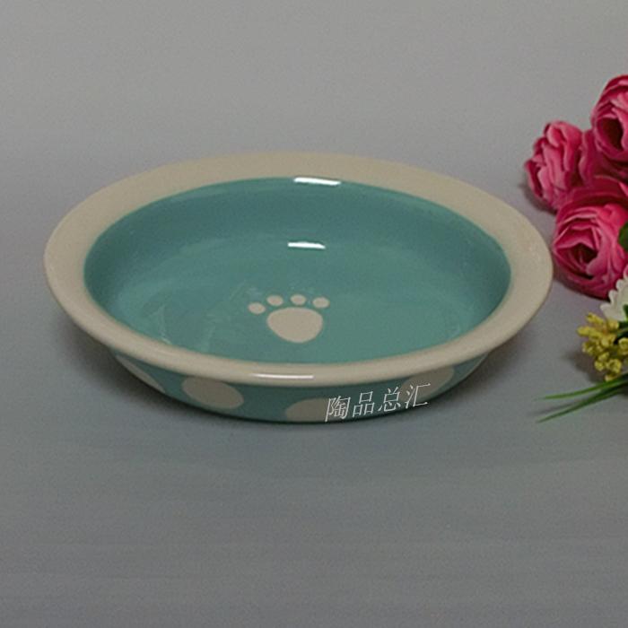 Garfield thực phẩm bát mặt phẳng mèo bát gốm con chó bát bông thực phẩm bát con chó nồi vật nuôi nhu yếu phẩm hàng ngày người Anh ngắn mèo con chó chậu rửa