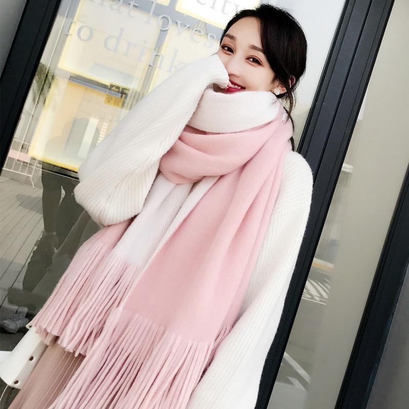 围巾女冬款可爱百搭时尚少女心情侣针织保暖韩版加厚长款学生围脖