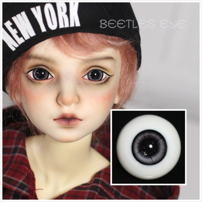 taobao agent 【Dolly Planet】BJD Baby Handmade Glass Eyes, Realistic Style, Black Eye Pattern/Brown S-16