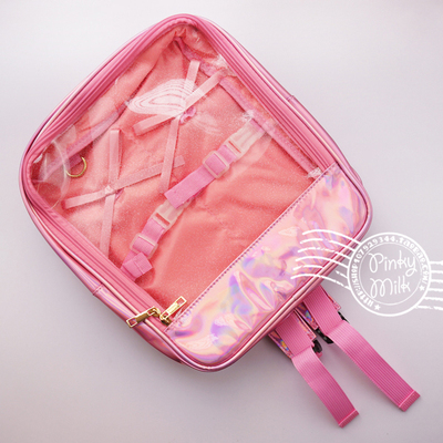 42agent [pain bag] transparent flash doll shoulder bag! Girl's heart with a bag of secondary yuan BJD exhibition - Taobao