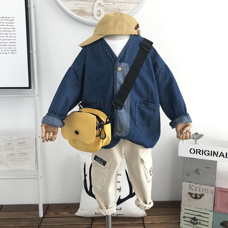 Sản phẩm dành cho trẻ em màu xanh lá cây   Mùa xuân 2020 Trẻ em Hàn Quốc Áo khoác denim Nhật Bản áo khoác dày thời trang áo khoác cardigan - Áo khoác