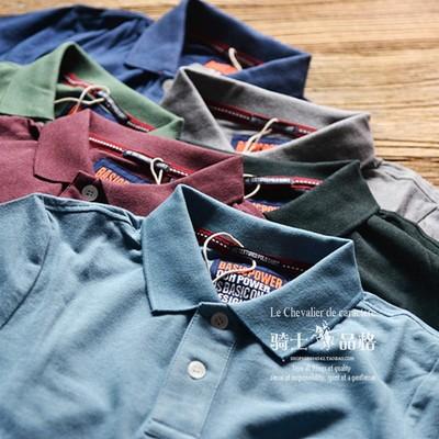Rắn màu ngắn tay polo áo sơ mi nam Mỹ thường nền tảng ngọc trai lưới cotton mùa hè mỏng 26 áo phông có cổ Polo