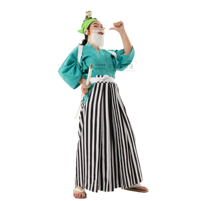 taobao agent One Piece and the country Usopp cos suit Kendo pants kimono Japanese cosplay suit