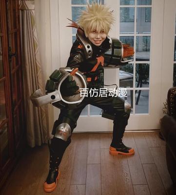 taobao agent 【Hundred Fiction Animation】Little hero Bakuhao Katsuji cos suit battle suit leather winter cosplay costume