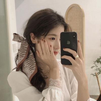 韩系复古花朵发带仙女系发饰