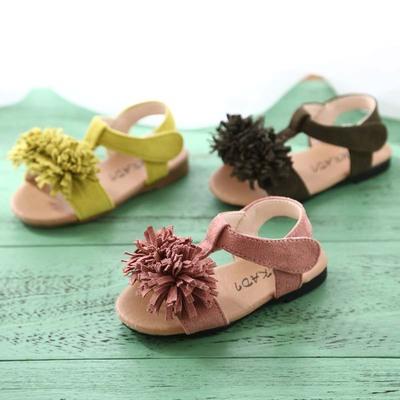 2017夏季新款女童凉鞋流苏儿童公主鞋韩版女宝宝沙滩鞋1-2-3岁潮