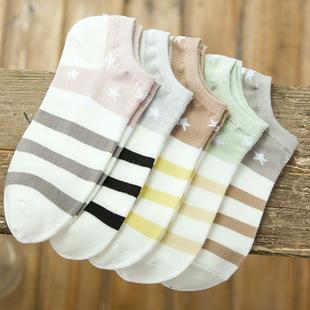 五双装可爱短袜女浅口韩版低帮船袜