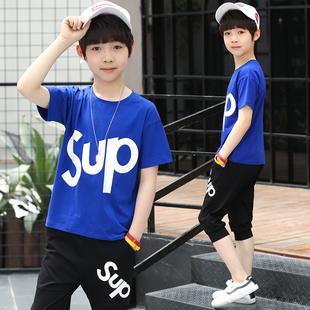 儿童短袖中裤两件套110-160