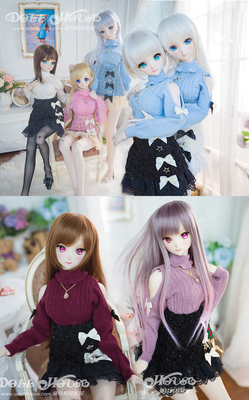 taobao agent [Blue Moon's Doll House] 3-point girl/DDS/DD-DY/SDGR off-the-shoulder sweater skirt multi-color free collocation