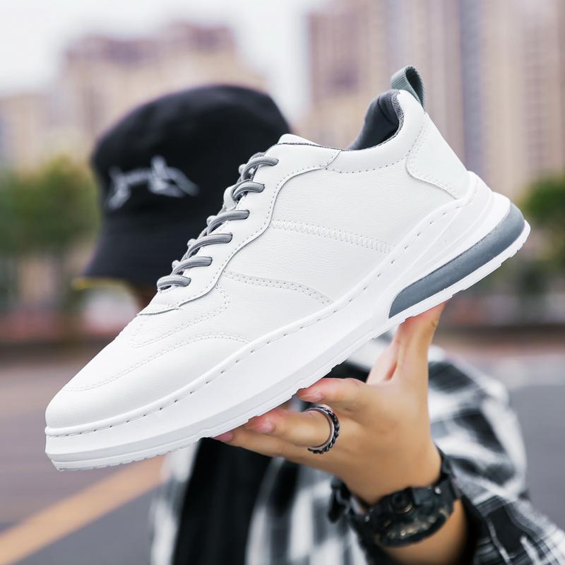 2021春季新款男士板鞋男鞋透气休闲鞋百搭韩版潮流鞋低帮小白鞋子