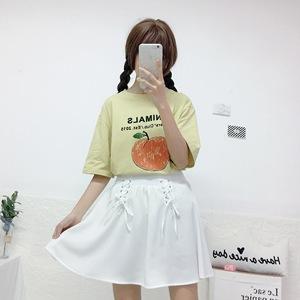 实拍实价~小清新百搭学院风印花T恤~9028#
