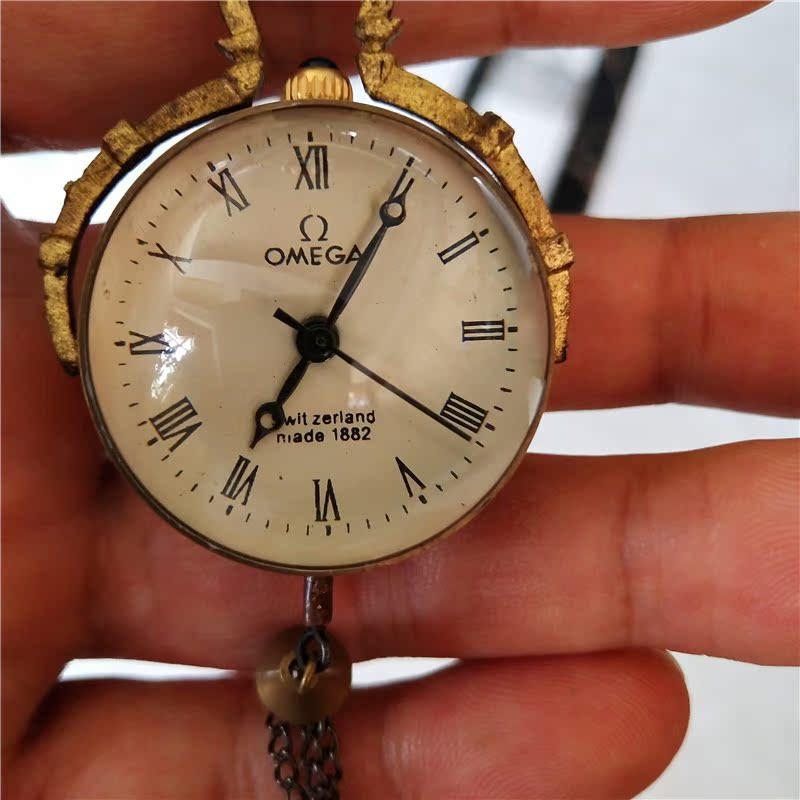 Antique Miscellaneous Bộ Sưu Tập Thủ Công Quà Tặng Tinh Khiết Đồng Pha Lê Xem Đồng Hồ Cơ Khí Pha Lê Retro Pocket Watch Hình Cầu Bảng Vừa