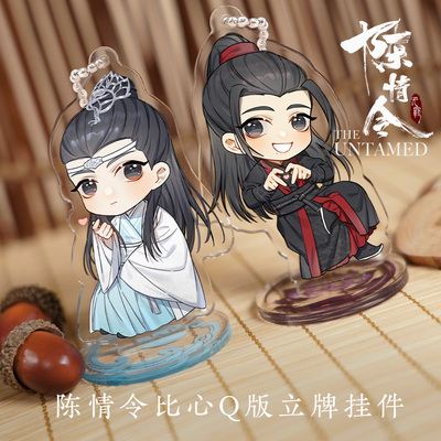 42agent [Chenqing makes the innocent surrounding official] Wei Wuhao blue forget machine than the heart Q version of the licensing pendant - Taobao