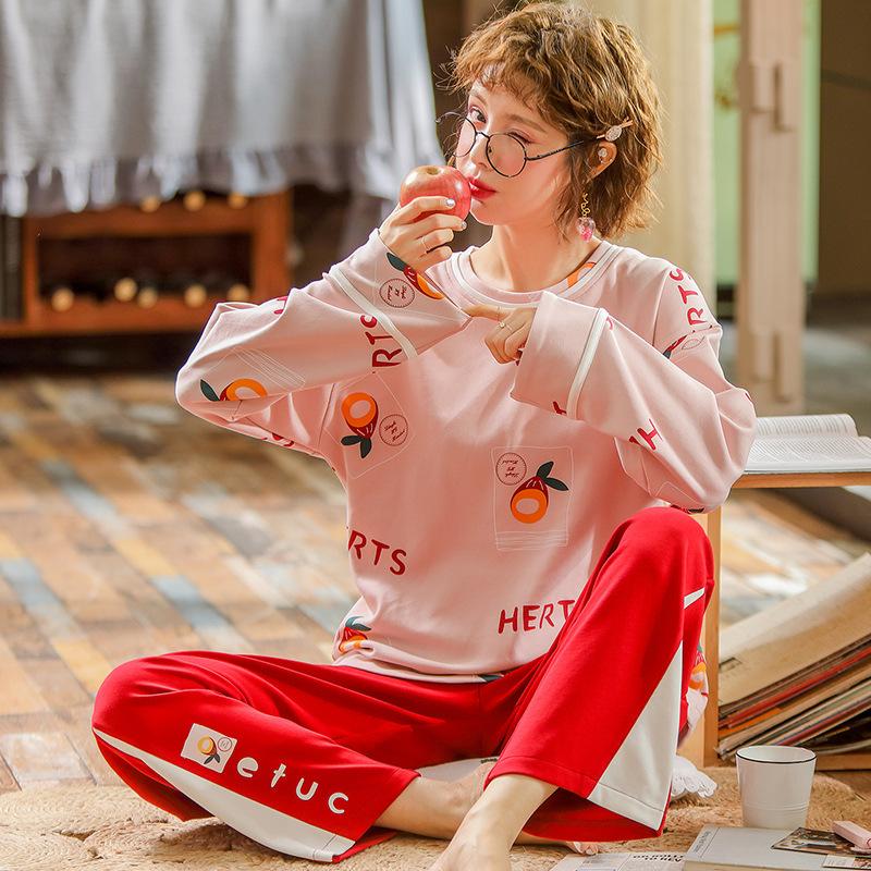 2020新款睡衣女纯棉卡通可爱家居服套装