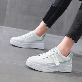 2021春季新款小白鞋女韩版百搭厚底透气学生运动防滑休闲板鞋
