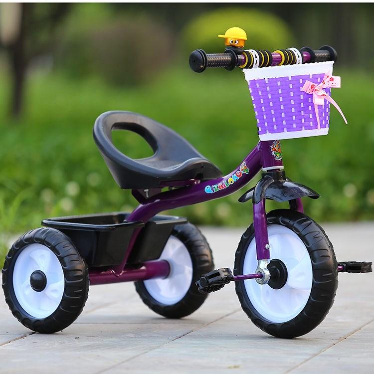 儿童三轮车幼童手推车简易轻便大号男女骑行车宝宝脚踏车1-3-5岁