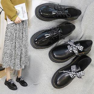 英倫風小皮鞋女休閒單鞋春秋時尚女鞋