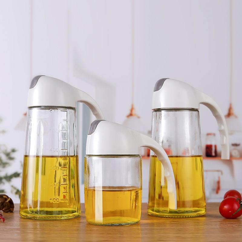 自动开合玻璃油壶家用厨房装油倒油防漏