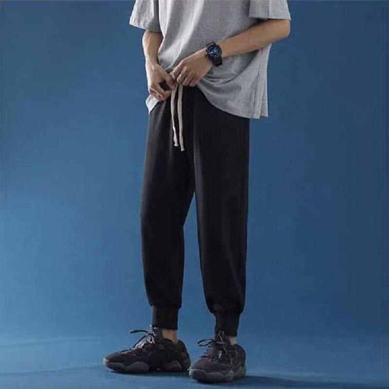 2020秋冬季运动裤女宽松束脚显瘦加绒加厚休闲裤学生ins潮黑长裤