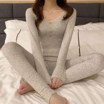 秋冬紧身保暖套装女2020新款韩版学生塑身长袖打底秋衣秋裤两件套