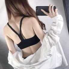 成分实拍韩版港味螺纹运动健身美背裹胸内衣少女防走光打底背心