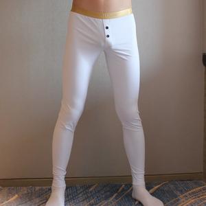 Quần mùa thu của nam giới bông mảnh duy nhất thanh niên chặt chẽ mỏng dòng quần quần mỏng thấp eo ấm quần sexy dưới