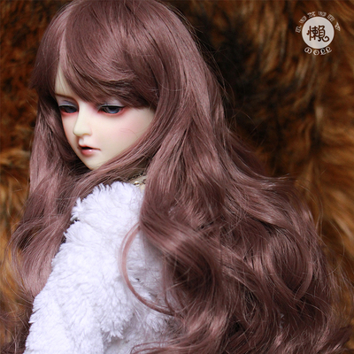 taobao agent BJD male and female SD doll daily wig 64 points 3 points uncle giant baby grape purple bangs noodle roll long head