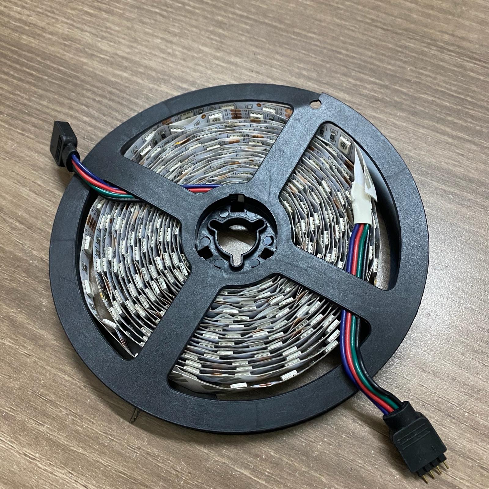 【5米RGB灯带】12v5050贴片彩色RGB灯带 盘式灯带低至6.5人名币丨5米RGB灯带6.5元