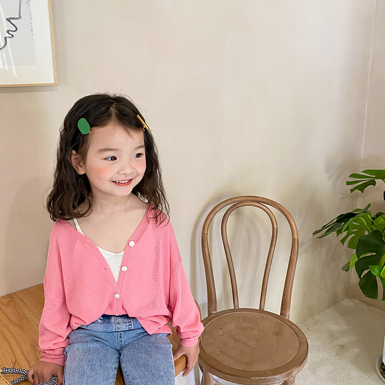 【依依妈】夏女童冰丝薄款防晒衣开衫外套