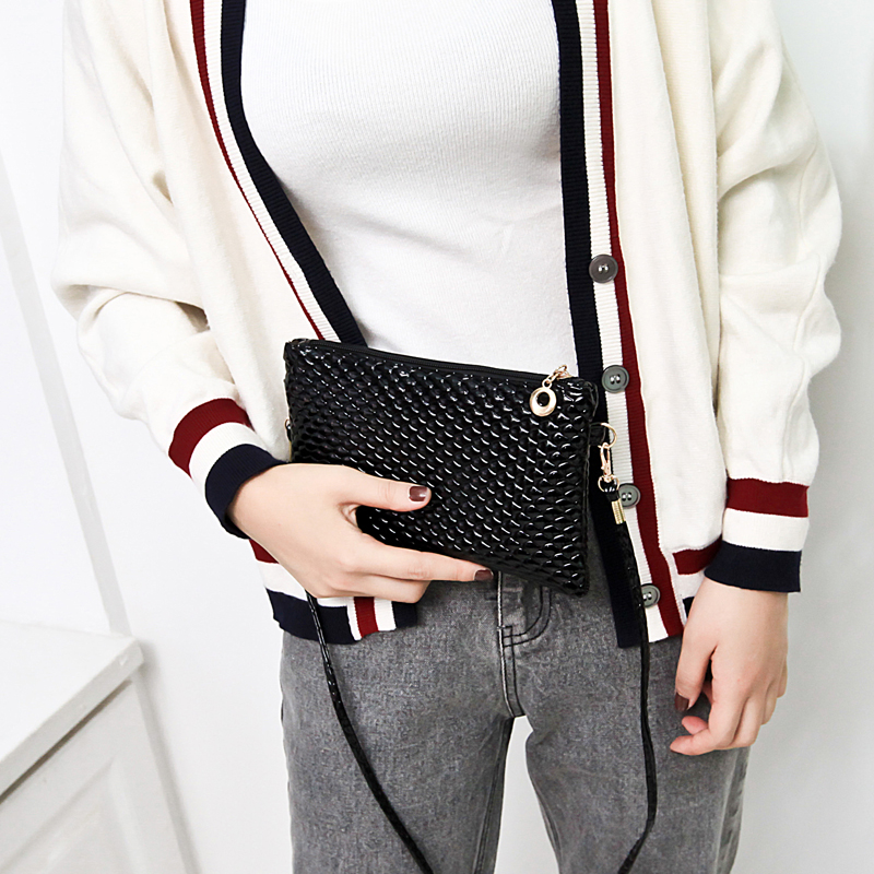 Giản dị mềm da trung niên của phụ nữ vai duy nhất gói đường chéo trung niên điện thoại di động thay đổi tiền túi mẹ nữ túi túi nhỏ