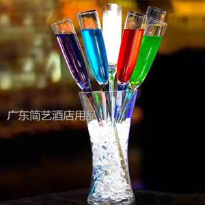 Sáng tạo cocktail kính màu thủy tinh rượu sâm banh kính thanh rượu vang thiết lập hàng hóa gia dụng ly rượu ly biển