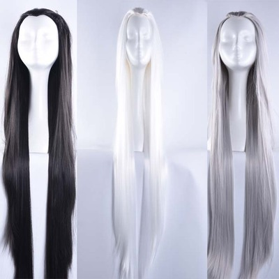 taobao agent Costume beauty tip cos antique wig sword three / million flowers / fantasy city fake hair black white silver gray