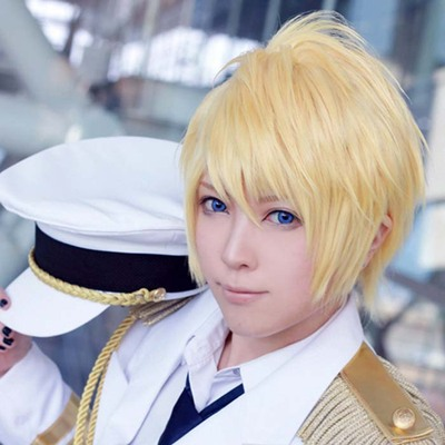 taobao agent Light gold reverse curled short hair, His Royal Highness Prince of Song cos wig Cosplay fake hair