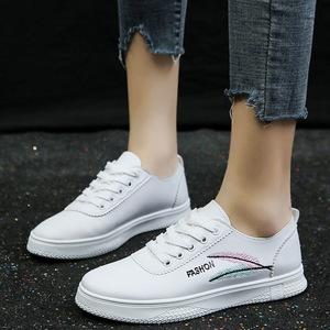 刺绣小白鞋女学生韩版百搭轻便休闲女鞋子运动女鞋子时尚板鞋单鞋