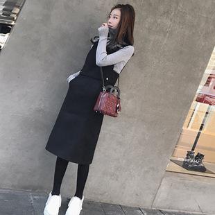 2018秋冬新款女装冬装帅气两件套