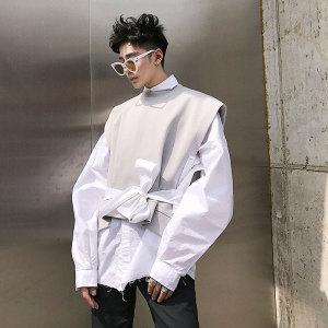 Charlie UNCLE thiết kế ban đầu đan vest tide thương hiệu sinh viên hoang dã mui xe vest lỏng người đàn ông giản dị của vest