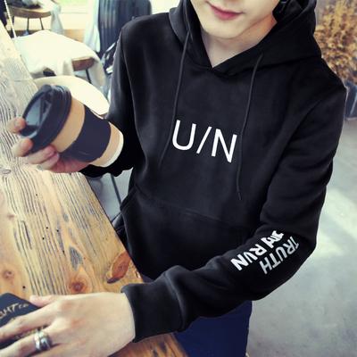 Hàn quốc phiên bản của phong cách Harajuku bf lỏng bảy điểm ngắn tay áo len trai mùa xuân và mùa hè trùm đầu quần áo áo khoác sinh viên Áo len