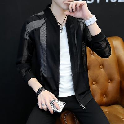 Áo khoác nam mùa hè 2018 mới của Hàn Quốc phiên bản của xu hướng đẹp trai mặt trời bảo vệ quần áo nam phần mỏng áo khoác thoáng khí quần áo giản dị