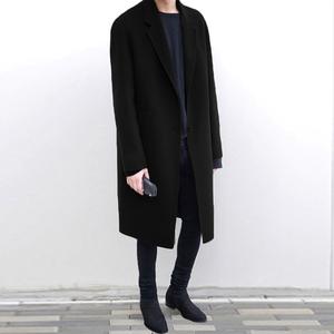 Mùa đông Hàn Quốc đôi phải đối mặt với cashmere áo len nam dài áo len thả vai người đàn ông của áo len