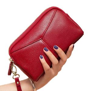 2018 mới Châu Âu và Mỹ da ly hợp túi nữ túi nhỏ mới ly hợp túi công suất lớn leather coin purse túi điện thoại di động